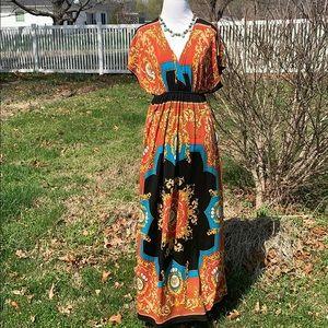 India Boutique boho maxi dress S